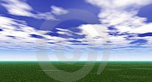Green Field Stock Photo - Image: 5320460