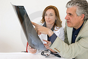 Radiography discussion Stock Image