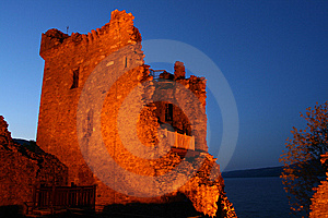 Castle At Night Royalty Free Stock Photography - Image: 5322477