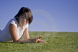 Teen Girl Listening To Music Royalty Free Stock Images - Image: 5326079