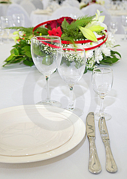 Detail Of Served Table Royalty Free Stock Photos - Image: 5329048
