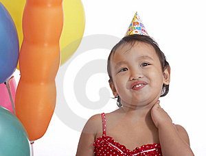Innocent Child With Party Hat Stock Image - Image: 5329431