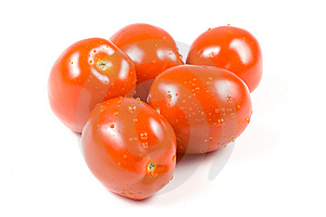 Fresh Tomatoes With Waterdrops. Royalty Free Stock Photography - Image: 5330827