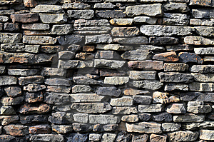 Stone Wall With Different Stones Royalty Free Stock Photos - Image: 5332118