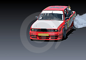 Drift Car In Action Royalty Free Stock Photography - Image: 5335177