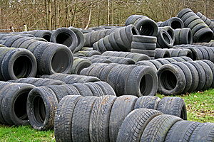 Old Tyres Used As Racing Tire Walls Royalty Free Stock Images - Image: 5335699
