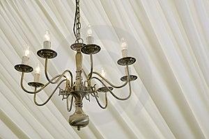 Chandelier Under Silk Royalty Free Stock Photo - Image: 5343465