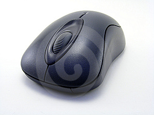 Blue Black Three Button Computer Mouse Royalty Free Stock Image - Image: 5345706