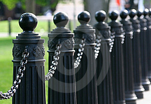 Chained Barrier Royalty Free Stock Image - Image: 5348086