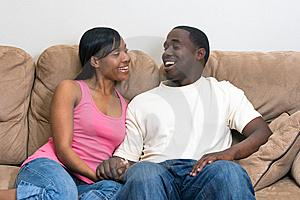 Attractive African american couple
