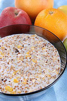 Milk With Flakes For Breakfast Royalty Free Stock Photo - Image: 5355595