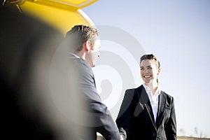 Businesspeople handshake Free Stock Image