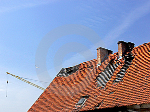 Deavastated Roof Stock Images - Image: 5357954