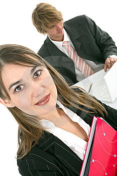 Business woman in an office Stock Photos