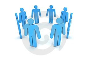 People in circle Stock Photo