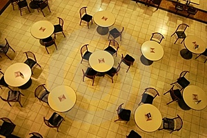 Patterns Of Dinning Tables Royalty Free Stock Photos - Image: 5359478