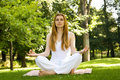 Yoga outdoor pose Royalty Free Stock Photos
