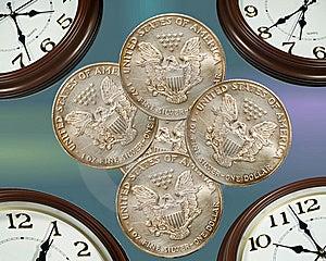 Clock & Money Stock Photos - Image: 5362883