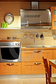 Metallic kitchen Stock Image