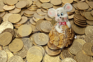 Rich Mouse And His Money Stock Photography - Image: 5365572