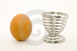 Egg and an egg cup, still-life Royalty Free Stock Images