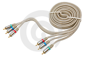 Component Video Cable Stock Image - Image: 5367001