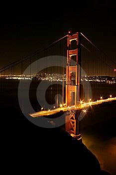 Golden Gate Bridge In Lights Stock Image - Image: 5367501