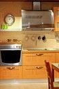 Metallic kitchen Stock Image