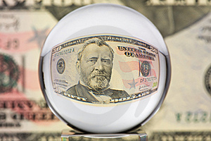 Glass Sphere, Dollar, Two Stock Image - Image: 5370231