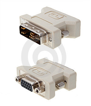 Monitor Adapter Royalty Free Stock Images - Image: 5371709