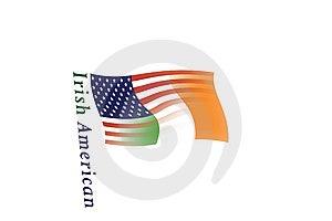 US & Irish Flag Blend, & Text3 Stock Image - Image: 5373621