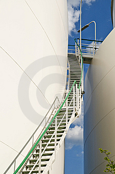 Up View Of Industry Staircase Stock Photo - Image: 5373700