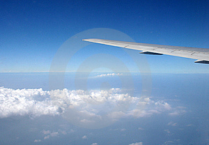 Airplane Wing Royalty Free Stock Images - Image: 5374129