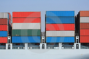 Container Shipping IV Stock Image