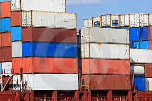 Container Shipping X Royalty Free Stock Images