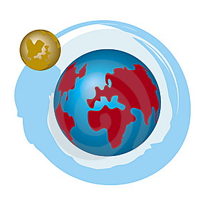 Earth And Moon Royalty Free Stock Photos - Image: 5377068