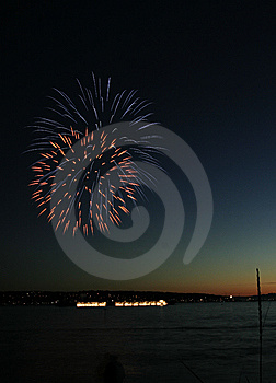 Fireworks Beginning Royalty Free Stock Photos - Image: 5377478