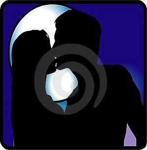 Kiss At Night Royalty Free Stock Photography - Image: 5379777