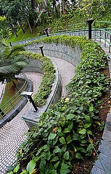 Curve Pathway Stock Image - Image: 5380161