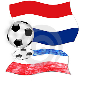 Football Netherlands Flag Stock Image - Image: 5380431