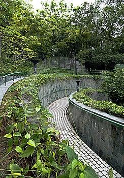Curve Pathway Stock Image - Image: 5380731