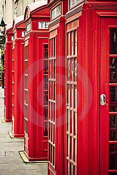 Red phone boxes Free Stock Photos