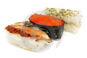 Three Japanese Sushi Royalty Free Stock Photography - Image: 5386777