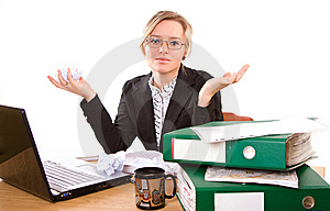 Businesswoman In Office Royalty Free Stock Photos - Image: 5386838