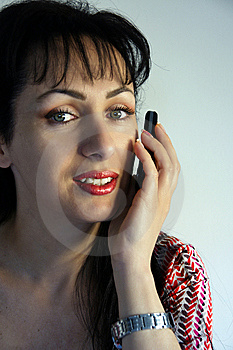 Young Woman Using Her Cellular Phone Royalty Free Stock Photos - Image: 5387898