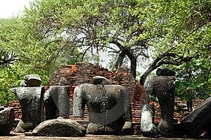 Thailand Ayutthaya Wat Ratburana Or Ratchaburana Royalty Free Stock Image - Image: 5389416