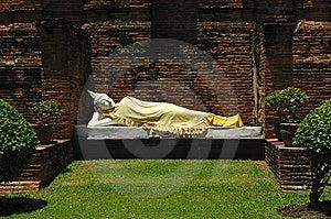 Thailand Ayutthaya Wat Yai Chai Mongkhon Royalty Free Stock Photo - Image: 5389845