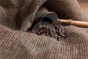 Cezve With Freshly Roasted Coffee Beans Stock Image - Image: 5391911