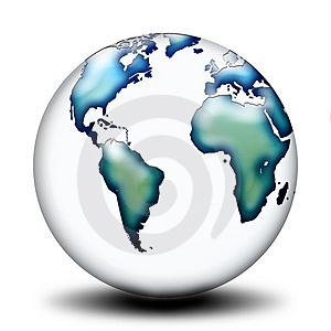 Transparent World Side B Stock Images - Image: 5392584