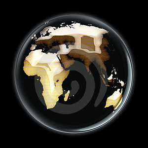 Brownish World Side B Stock Images - Image: 5392704
